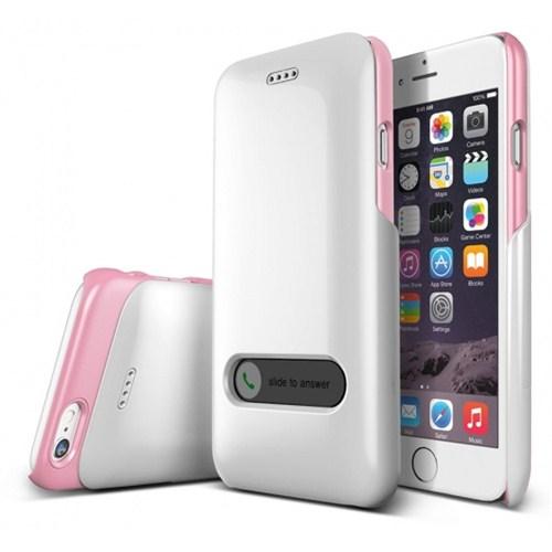 VERUS İphone 6 Kılıf Verus Case Slim Hard Slide Series Beyaz - Pembe