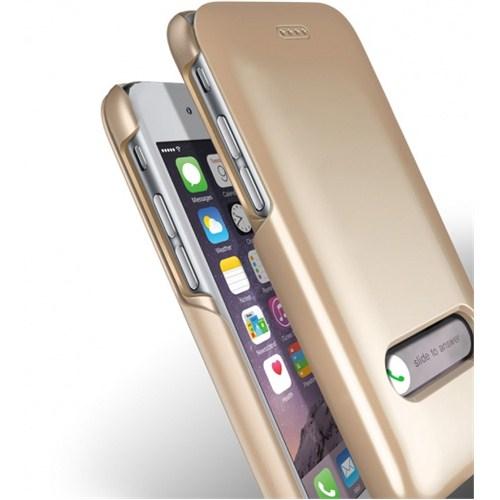 VERUS İphone 6 Kılıf Verus Case Slim Hard Slide Series Gold