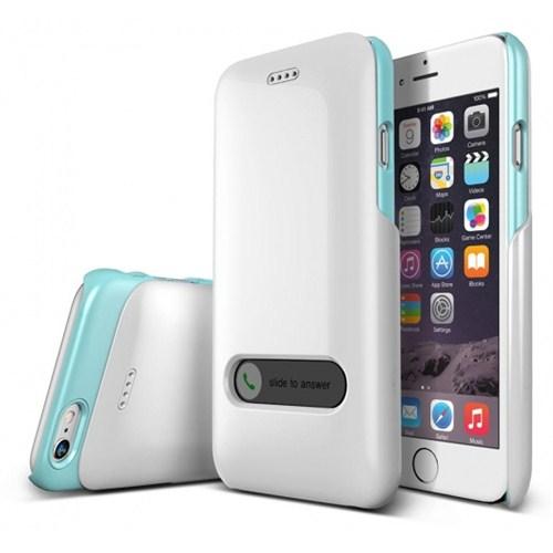 VERUS İphone 6 Kılıf Verus Case Slim Hard Slide Series Beyaz - Turkuaz
