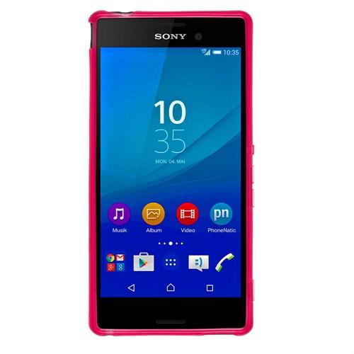 Case 4U Sony Xperia M4 Aqua Soft Silikon Kılıf Pembe