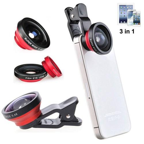 Case 4u 3 in 1 Selfie Lens (iPhone, Samsung, Nokia, Sony, Huawei, General Mobile, Asus, HTC, LG)