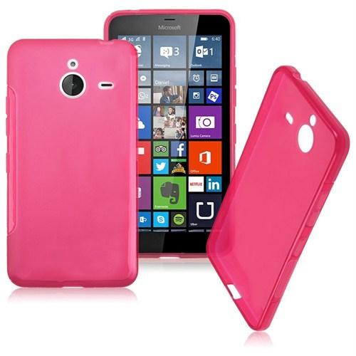 Case 4U Microsoft Lumia 640 XL Soft Silikon Kılıf Pembe