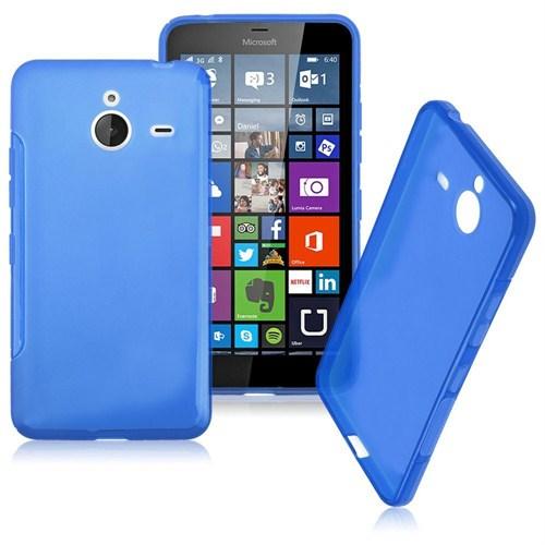 Case 4U Microsoft Lumia 640 XL Soft Silikon Kılıf Mavi