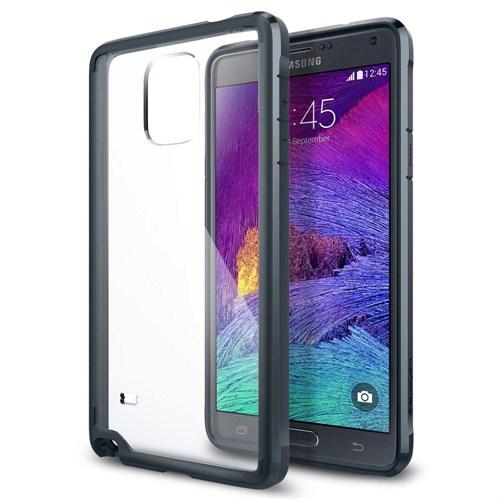 Spigen Sgp Samsung Galaxy Note 4 Kılıf Ultra Hybrid Metal Slate - SGP11114