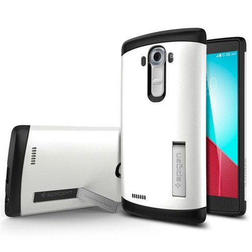 Spigen Sgp LG G4 Kılıf Slim Amor Shimmery White - SGP11523