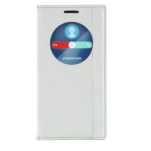 Case 4U Asus Zenfone 2 Gizli Mıknatıslı Magnum Kılıf Beyaz