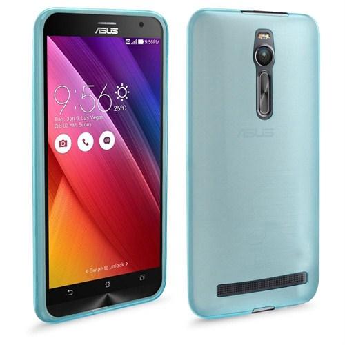 Case 4U Asus Zenfone 2 Ultra İnce Silikon Kılıf Mavi