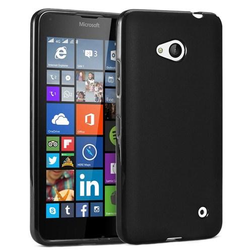 Case 4U Microsoft Lumia 640 Soft Silikon Kılıf Siyah