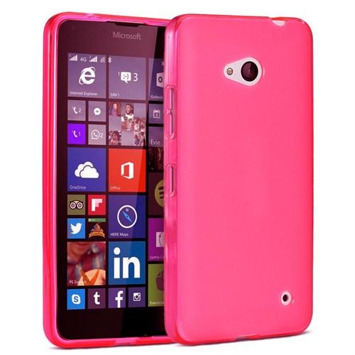 Case 4U Microsoft Lumia 640 Soft Silikon Kılıf Pembe