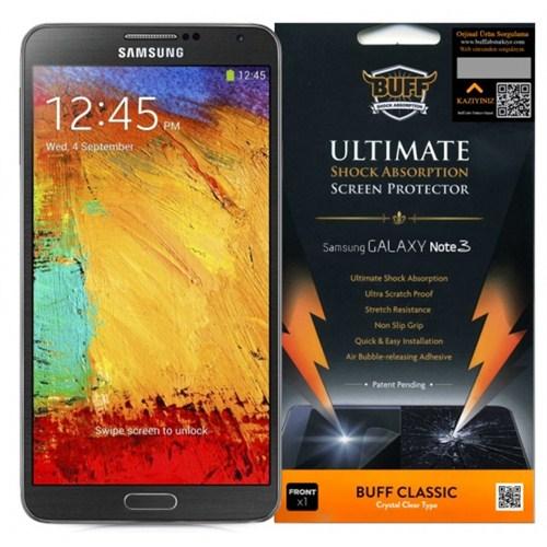 Buff Samsung Galaxy Note 3 Darbe Emici Ekran Koruyucu Film