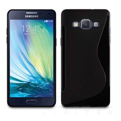 CoverZone Samsung Galaxy A5 Kılıf Tpu Soft Silikon S Line Siyah