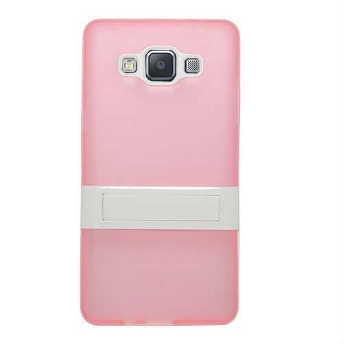 CoverZone Samsung Galaxy A5 Kılıf Standlı Silikon Açık Pembe