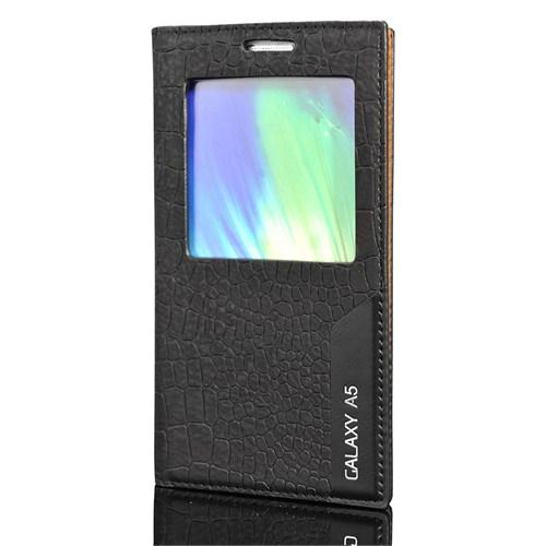 Cover Me Samsung Galaxy A5 Kılıf Pencereli Rock Siyah