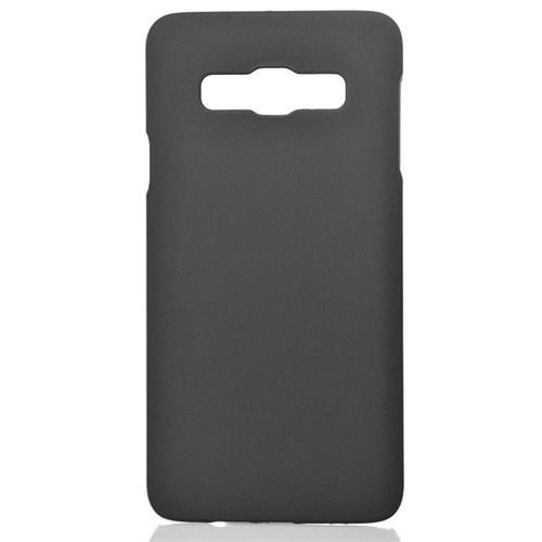 CoverZone Samsung Galaxy A3 Kılıf Sert Arka Kapak Rubber Siyah