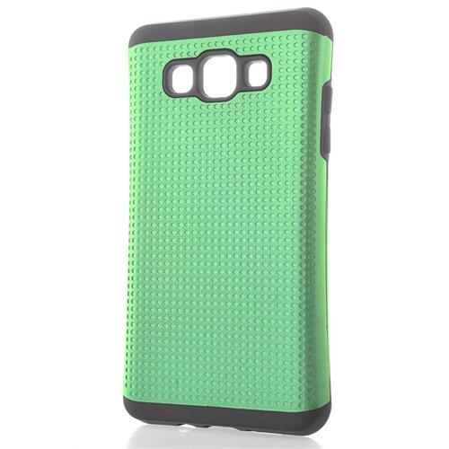CoverZone Samsung Galaxy A3 Kılıf Çift Katman Hybrid Fit Fıstık Yeşili