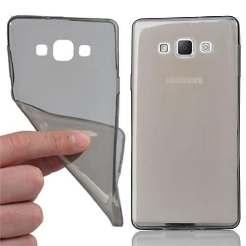 CoverZone Samsung Galaxy A7 Kılıf 0.3Mm Ultra İnce Silikon Antrasit