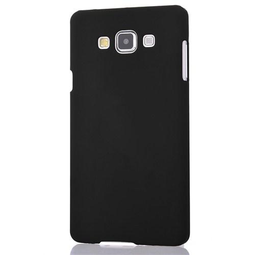 CoverZone Samsung Galaxy A7 Kılıf Sert Arka Kapak Rubber Siyah