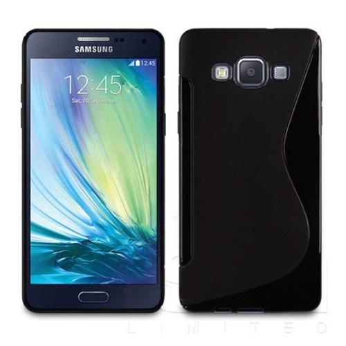 CoverZone Samsung Galaxy A7 Kılıf Silikon S Line Siyah