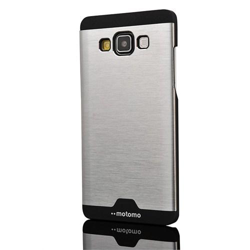 CoverZone Samsung Galaxy A7 Kılıf Motomo Metalize Gümüş