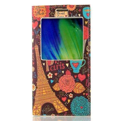 CoverZone Samsung Galaxy A7 Kılıf Dekoratif Kahve Paris