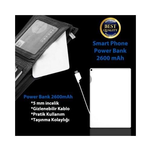 Carda Kredi Kartı Şeklinde Powerbank 2600 Mah