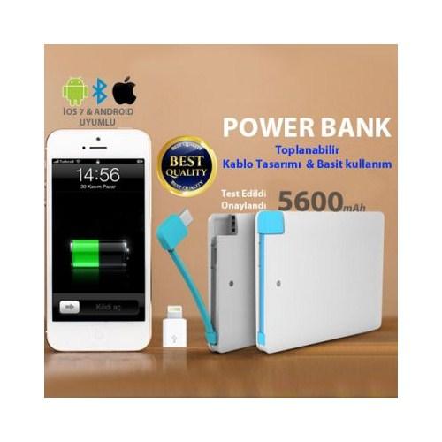 Carda Kredi Kartı Şeklinde Powerbank 5600 Mah
