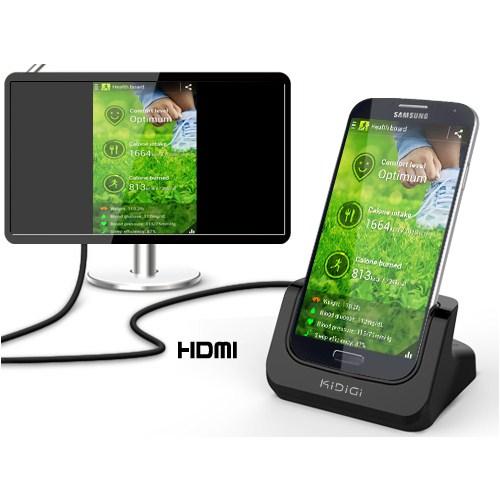 CoverZone Kidigi Samsung Galaxy S4 Masaüstü Şarj Ve Hdmı Çıkış