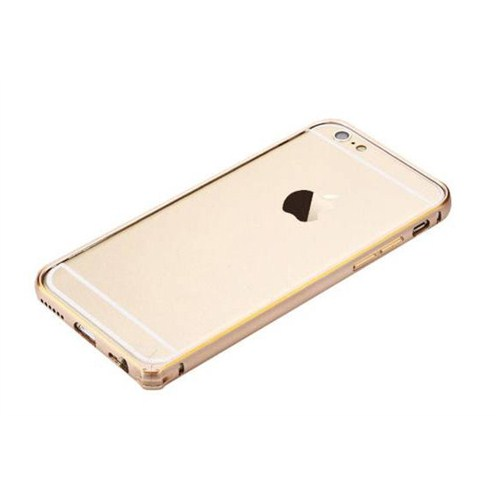CoverZone Totu Design Apple iPhone 6 Kılıf Orijinal Gold Metal Çerçeve