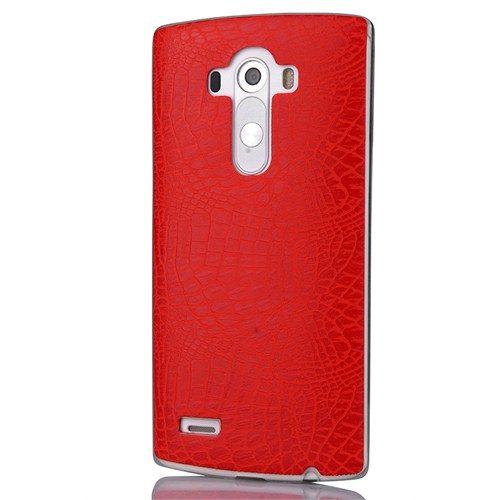 CoverZone Lg G4 Silikon Kılıf Rock Kırmızı