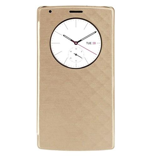 Case 4U LG G4 Flip Cover Altın (Uyku Modlu)