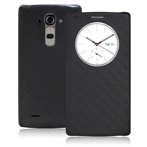 Case 4U LG G4 Flip Cover Siyah (Uyku Modlu)