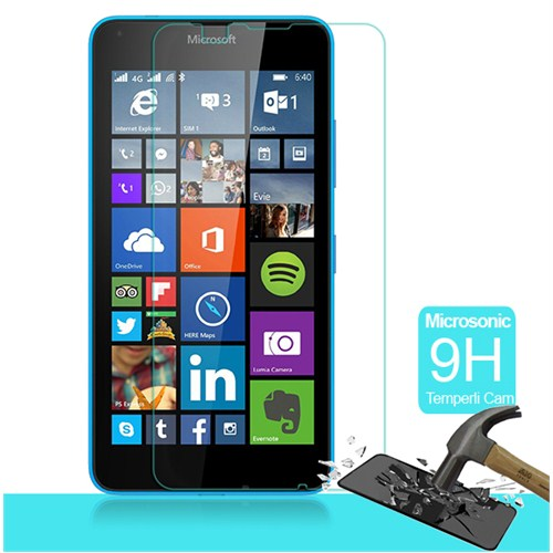 Microsonic Microsoft Lumia 640 Temperli Cam Ekran Koruyucu Kırılmaz Film