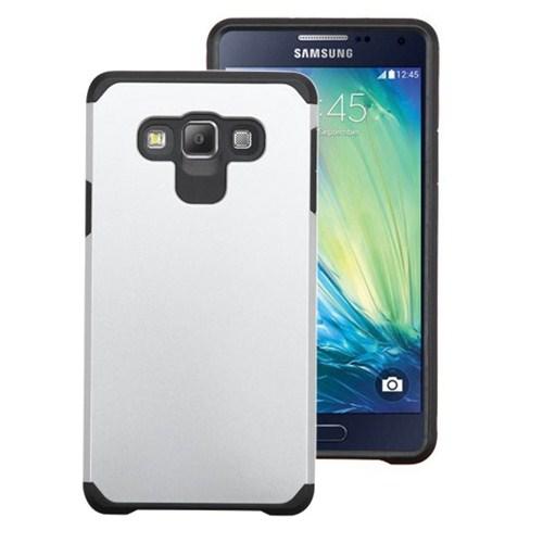 Microsonic Samsung Galaxy E5 Kılıf Slim Fit Dual Layer Armor Beyaz