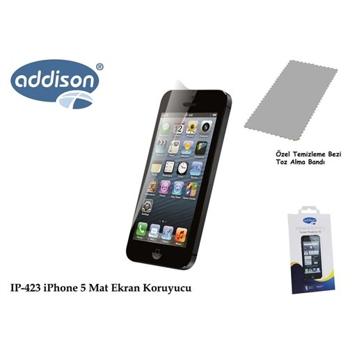 Addison Ip-423 İphone 5 İz Brakmaz Ekran Koruyucu