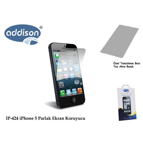Addison Ip-424 İphone 5 Ultra Şeffaf Ekran Koruyucu