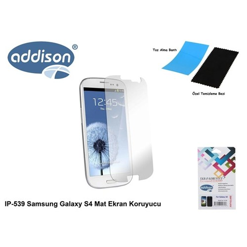 Addison Ip-539 Samsung Galaxy S4 Mat Ekran Koruyucu