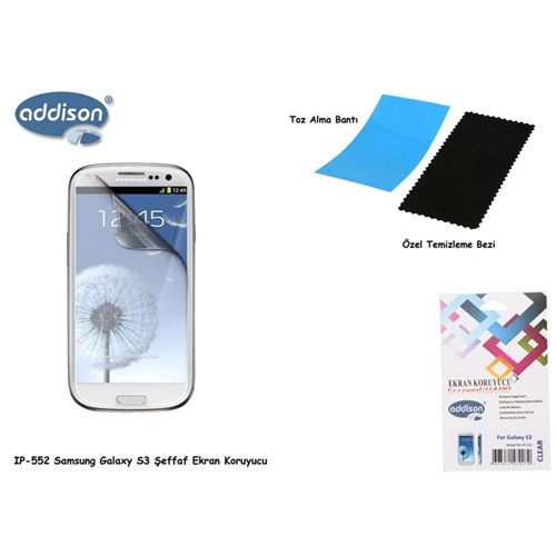 Addison Ip-552 Samsung Galaxy S3 Parlak Ekran Koruyucu