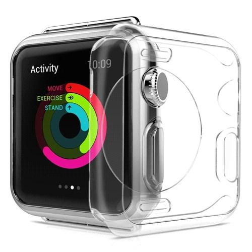 Case 4U Apple Watch Silikon Kılıf Şeffaf (42mm)