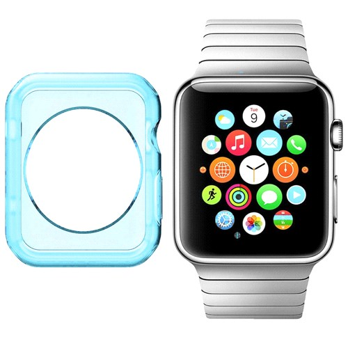 Case 4U Apple Watch Silikon Kılıf Mavi (42mm)