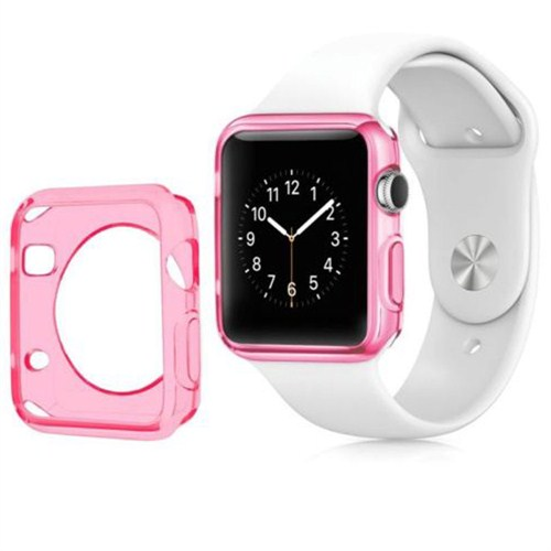 Case 4U Apple Watch Silikon Kılıf Pembe(38mm)