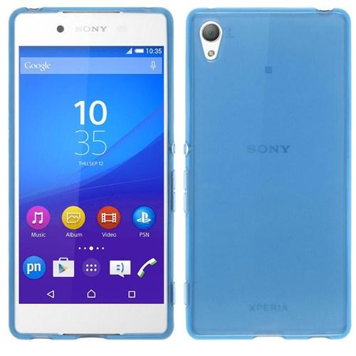 Case 4U Sony Xperia Z3 + Ultra İnce Silikon Kılıf Mavi