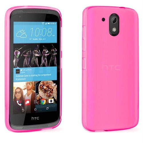 Case 4U HTC 526 Dual Sim Ultra İnce Silikon Kılıf Pembe