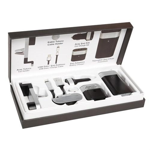 Codegen 5200 mAh 6in1 Ev-Araç-Seyahat Siyah Taşınabilir Şarj Cihazı - IF-50S
