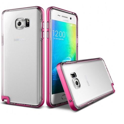 Verus Samsung Galaxy Note 5 Kılıf Crystal Bumper Series Hot Pink