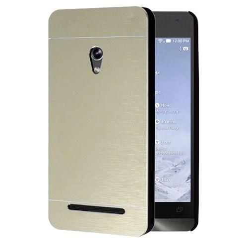 Microsonic Asus Zenfone 5 Kılıf Hybrid Metal Gold