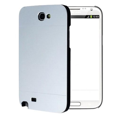 Microsonic Samsung Galaxy Note 2 Kılıf Hybrid Metal Gümüş