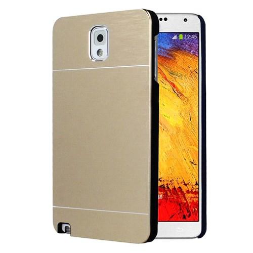 Microsonic Samsung Galaxy Note 3 Kılıf Hybrid Metal Gold
