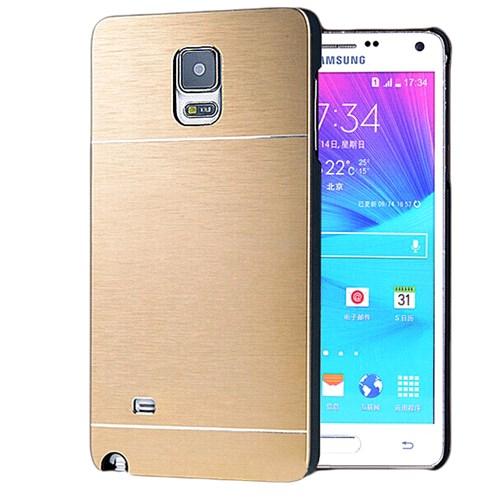 Microsonic Samsung Galaxy Note 4 Kılıf Hybrid Metal Gold