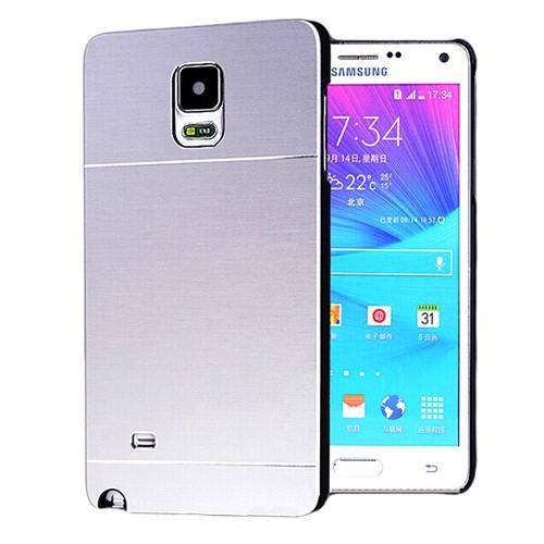 Microsonic Samsung Galaxy Note 4 Kılıf Hybrid Metal Gümüş