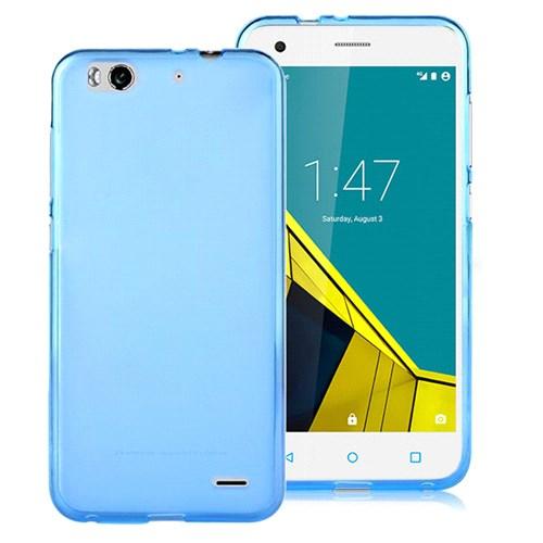 Microsonic Vodafone Smart 6 Kılıf Transparent Soft Mavi